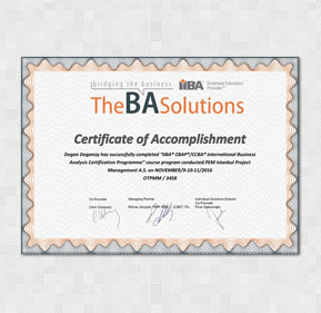 CBAP - Certified Business Analysis Professional
