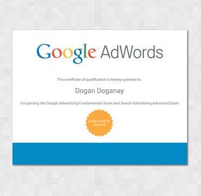 Google Adwords Certificate