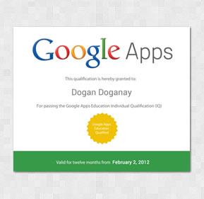 Google Apps Certificate
