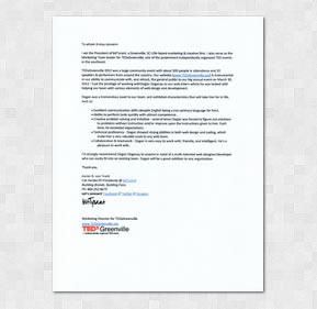 Aaron G. von Frank - Recommendation Letter
